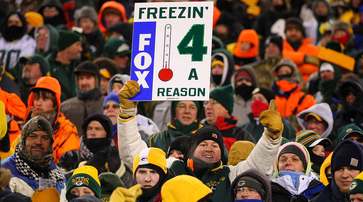 The sub-zero temperatures at kickoff only got worse as the game wore on and the wind whipped.