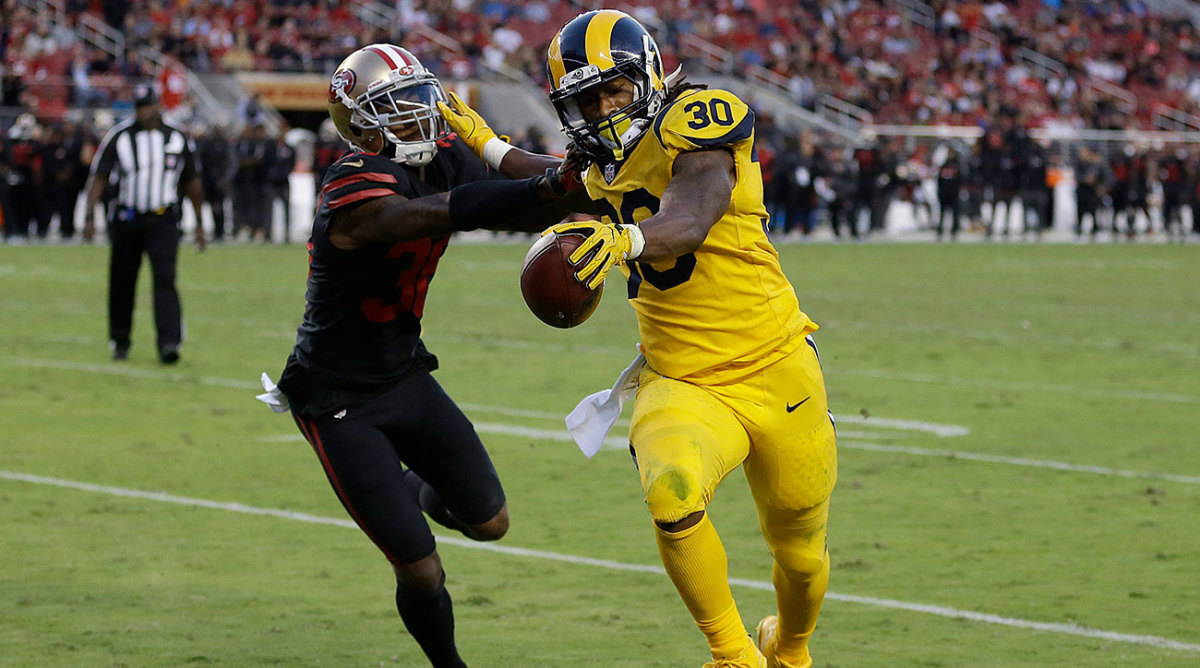 The Rams defeated the 49ers Thursday night in dramatic fashion with the help of three Todd Gurley touchdowns.