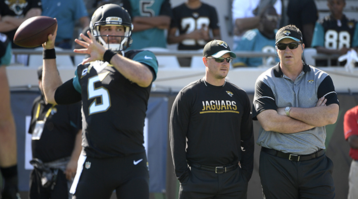 Marrone (right) oversaw two strong games from Bortles.