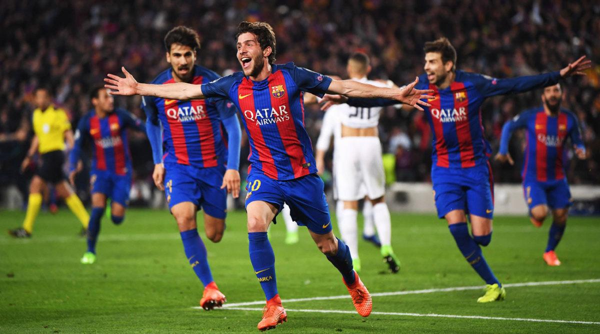 Барселона псж игры