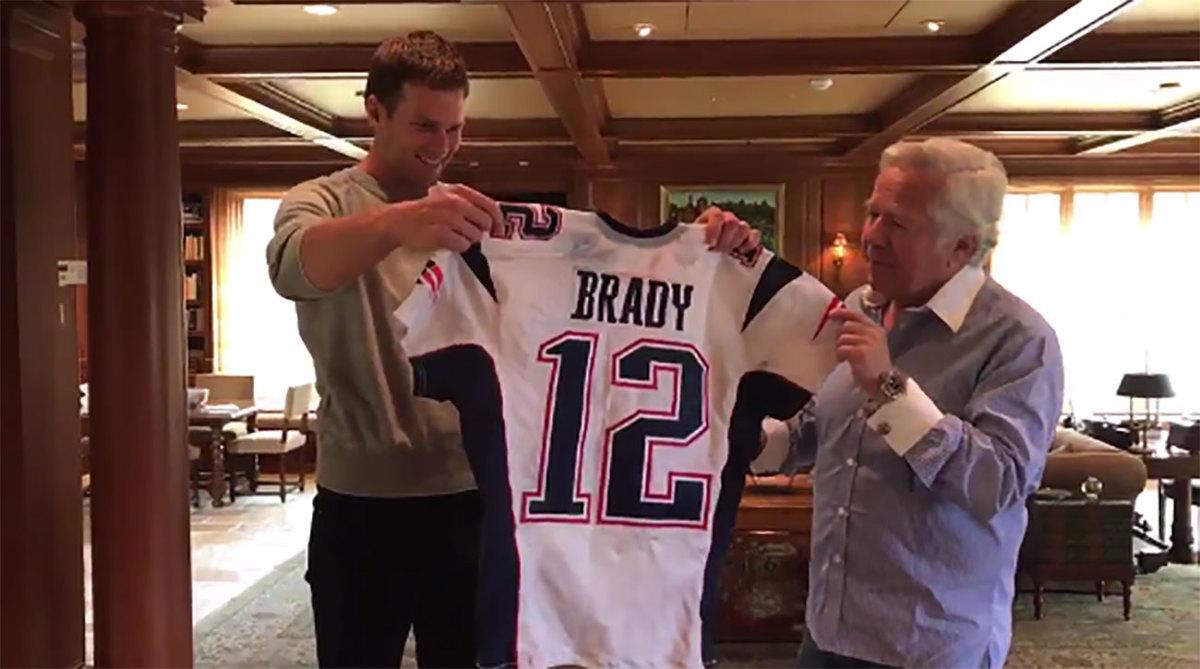 Tom Brady receives missing Super Bowl jerseys from Robert Kraft ...