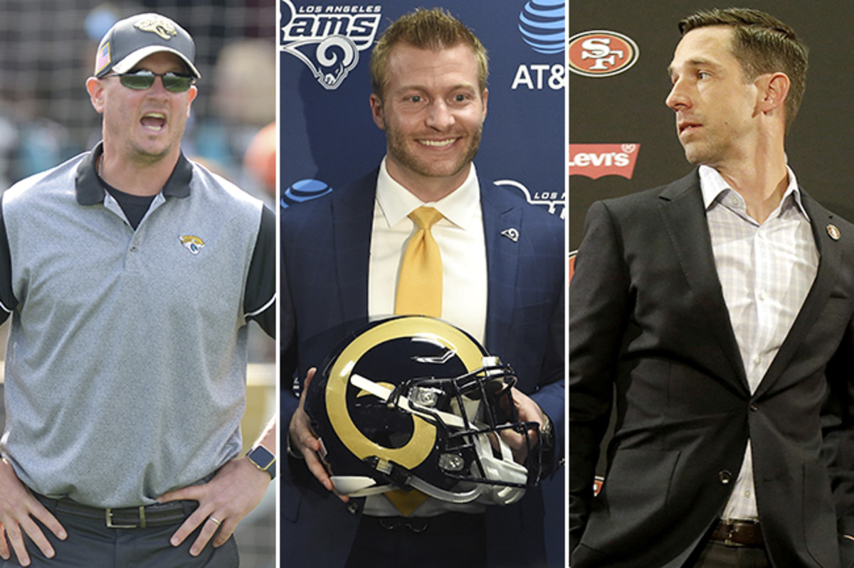 Hackett (left), McVay and Shanahan all worked for Jon Gruden, helping Tampa adapt to the digital age, before moving on to bigger things.