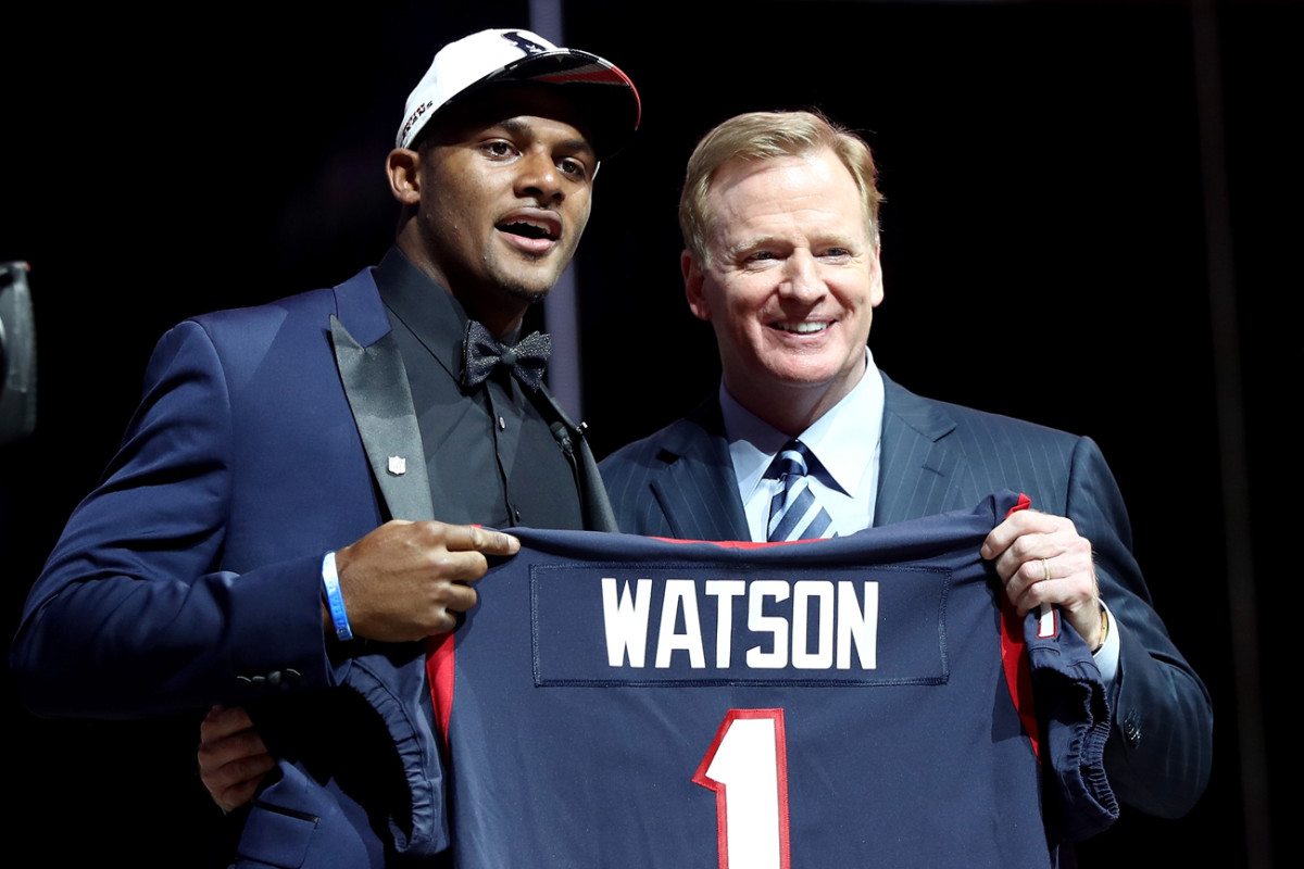 Deshaun Watson is headed to Houston, who traded up in the draft to take the Clemson quarterback.
