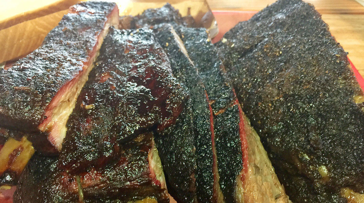 One of Cattleack's beef ribs.