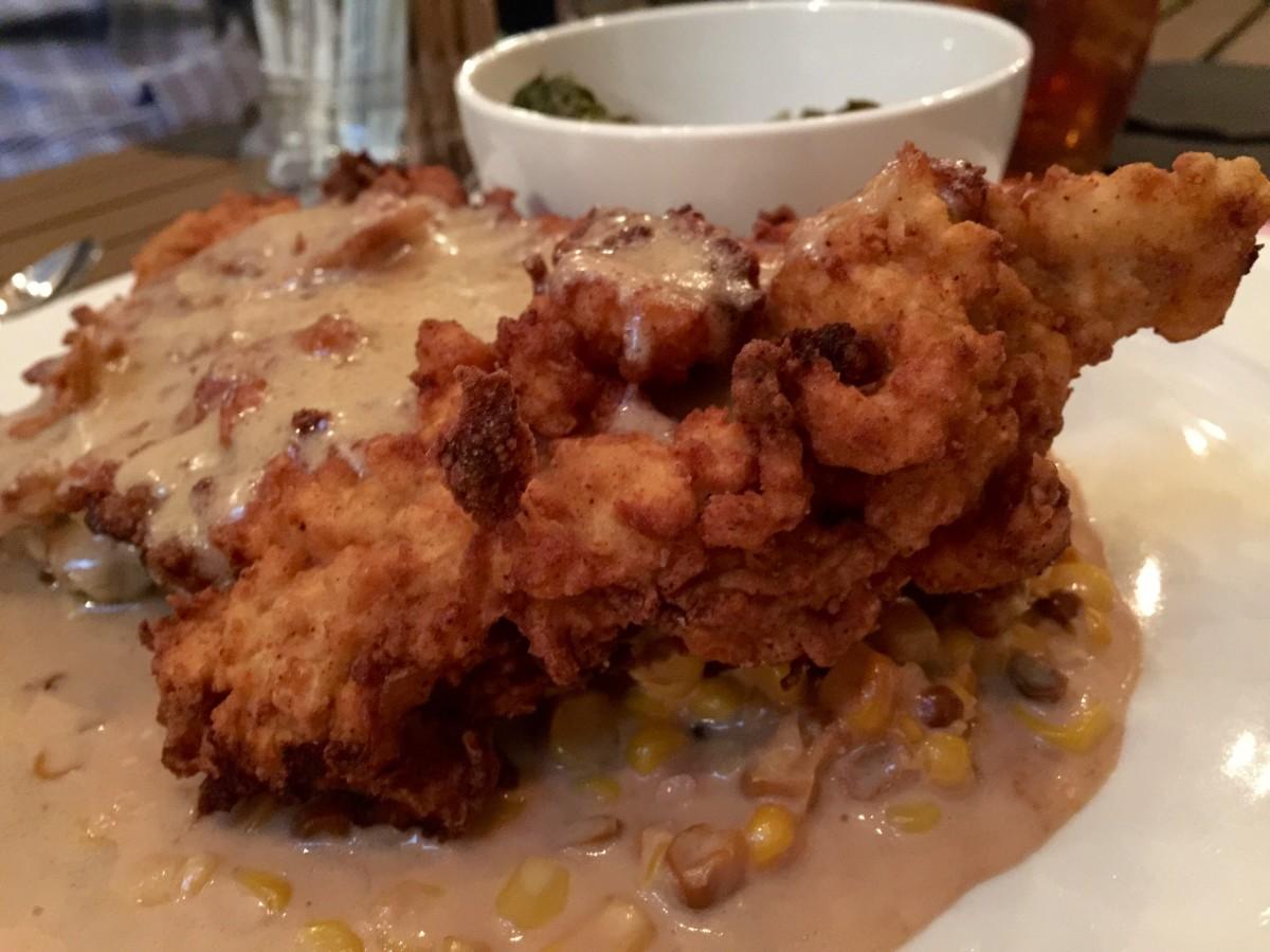 The chicken fried ribeye.