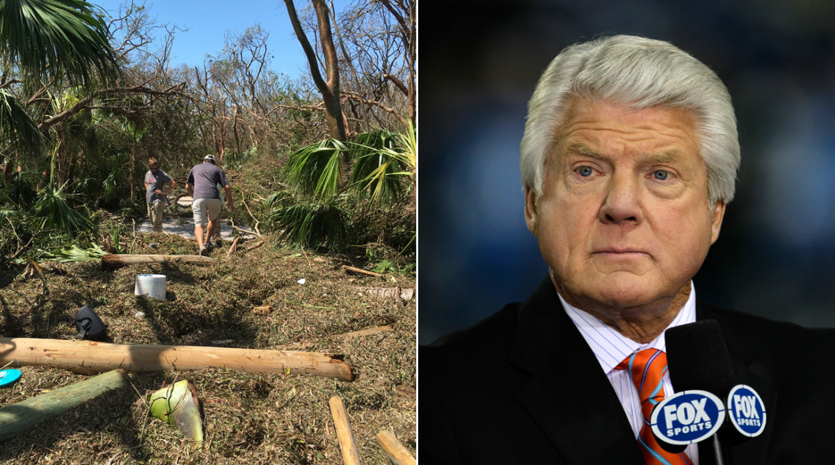 Jimmy Johnson S Florida Home Damaged By Hurricane Irma Sports Illustrated