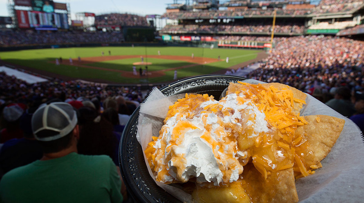 Apple pie nachos from Coors Field.