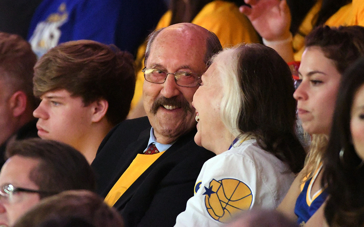 Meschery has become a fixture at Oracle Arena, where he and his wife Melanie took in Game 1 of this year's Finals together.