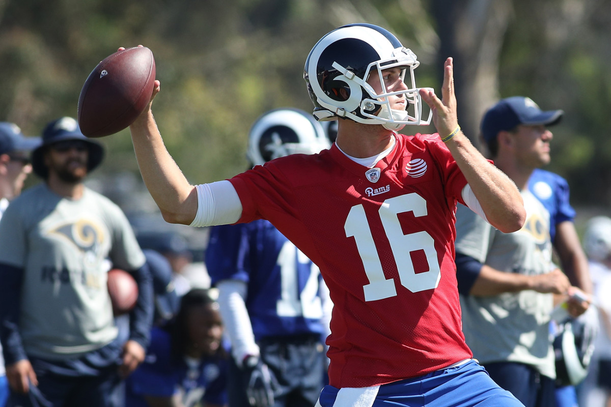 In his second season, Jared Goff enters Rams camp as the starting quarterback.
