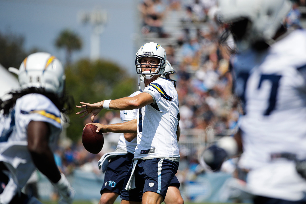Philip Rivers and the Chargers opened training camp in Costa Mesa, Calif., on Sunday.