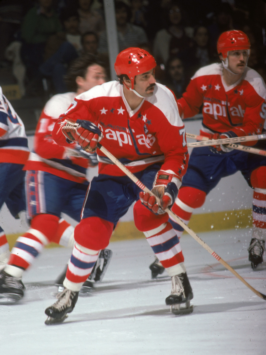 Yvon Labre of the Washington Capitals during a game against the New York Islanders in 1978.