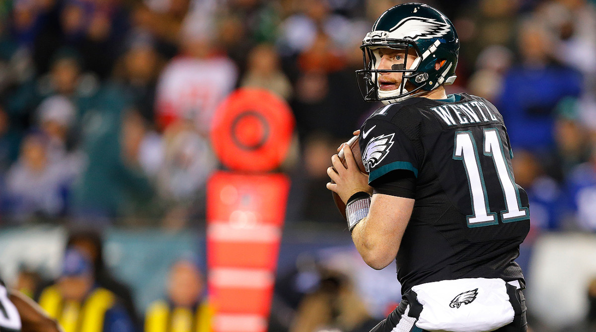 Carson Wentz finished his rookie season with 3,782 yards, 16 touchdowns and 14 interceptions. The Eagles were 7-9.