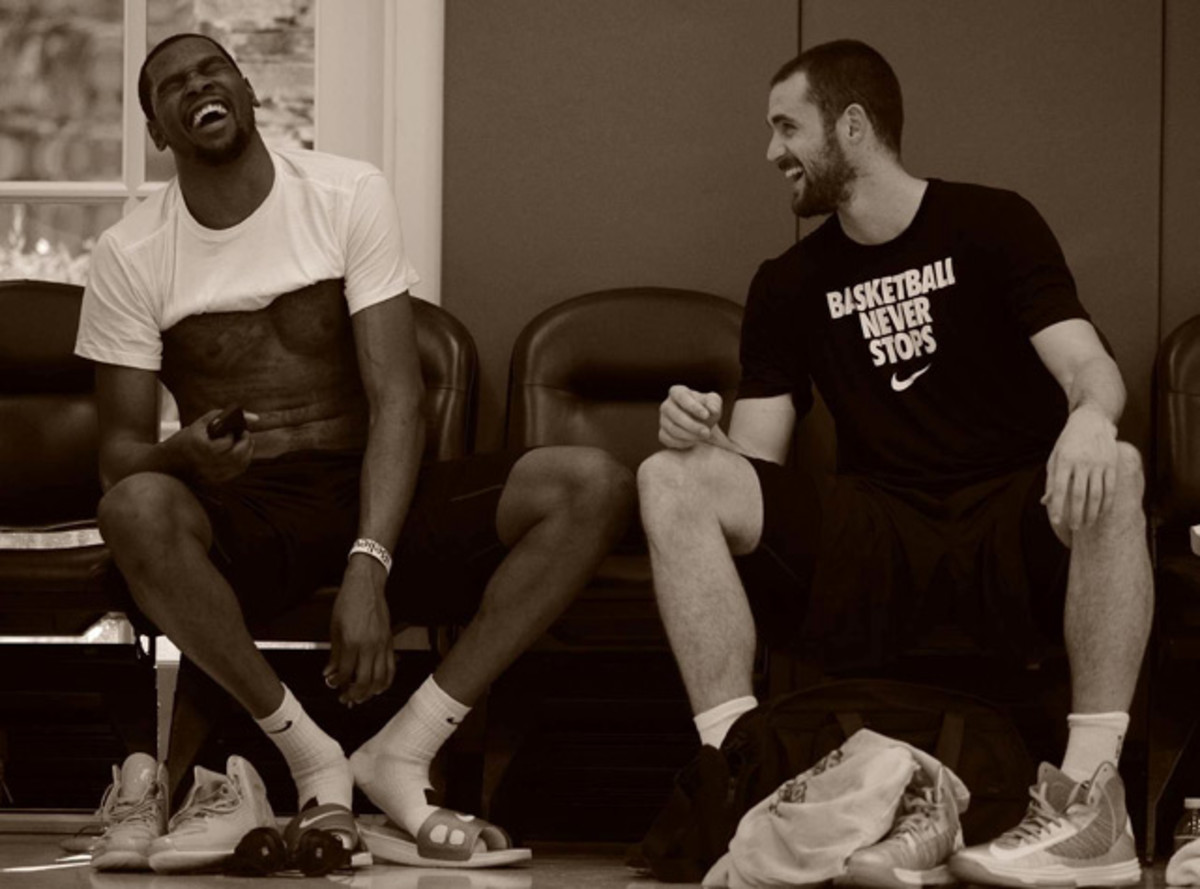 Kevin Durant and Kevin Love