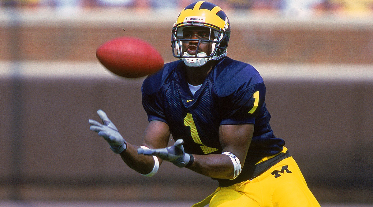 In their two seasons together at Michigan, David Terrell caught 85 passes for nine TDs from Brady.