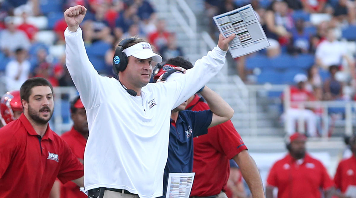 In his first season at FAU, Lane Kiffin led the Owls to more victories than they had in the previous three seasons combined and a Conference-USA title.