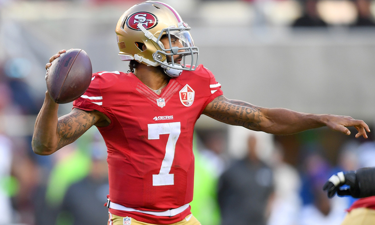 Colin Kaepernick remains unsigned, nearly a month after opting out of the final year of his contract with the 49ers.