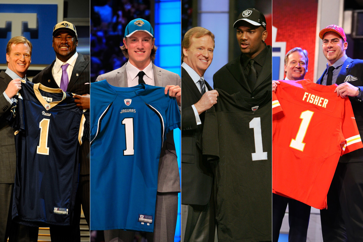 The draft offers hope for the future, but there's no guarantee of success. (From left: Jason Smith, Blaine Gabbert, JaMarcus Russell and Eric Fisher.)