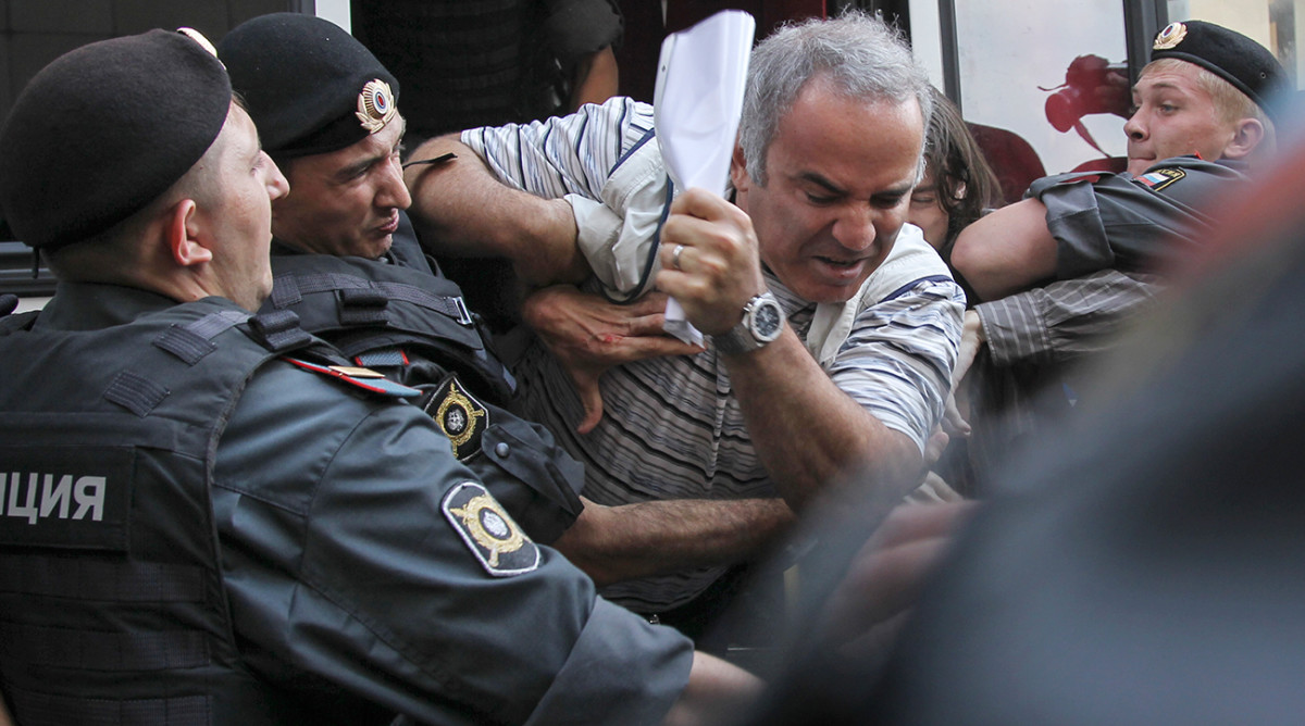 Kasparov's protest of the Russian government's policies in 2012 earned him the same global fame his chess championship had decades before.