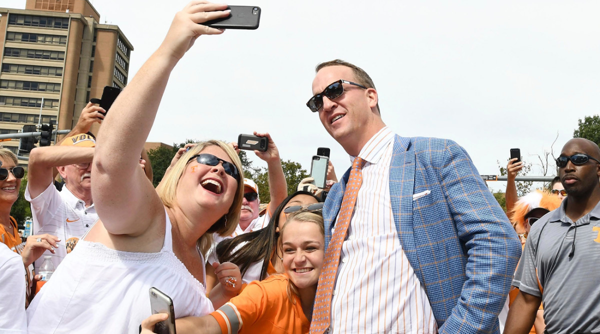 Peyton Manning has made public appearances—and posed for selfies—but largely has stayed out of the spotlight since retiring from football following the 2015 season.