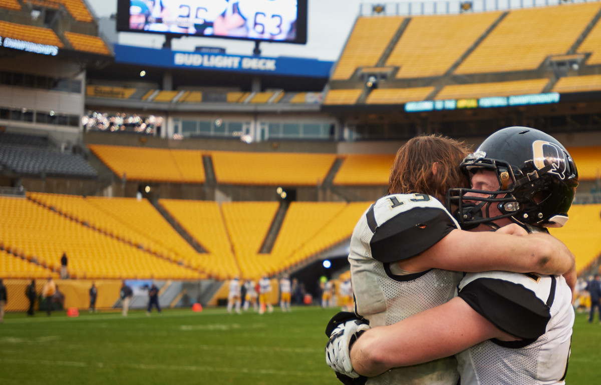 Ricky Guss and Andrew Seymour after the win.