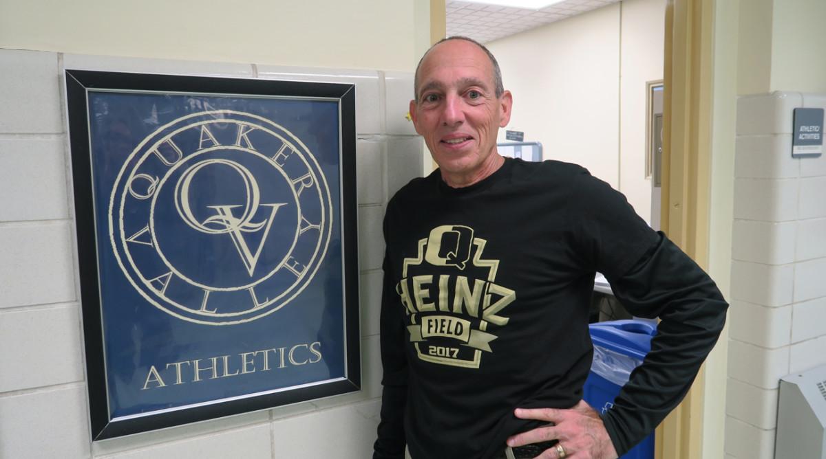 Quaker Valley coach Jerry Veshio.