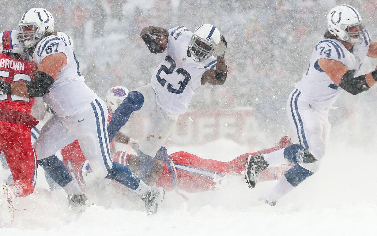 In the snow in Buffalo in Week 14.