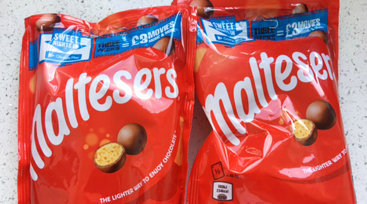The British version of the malted milk ball