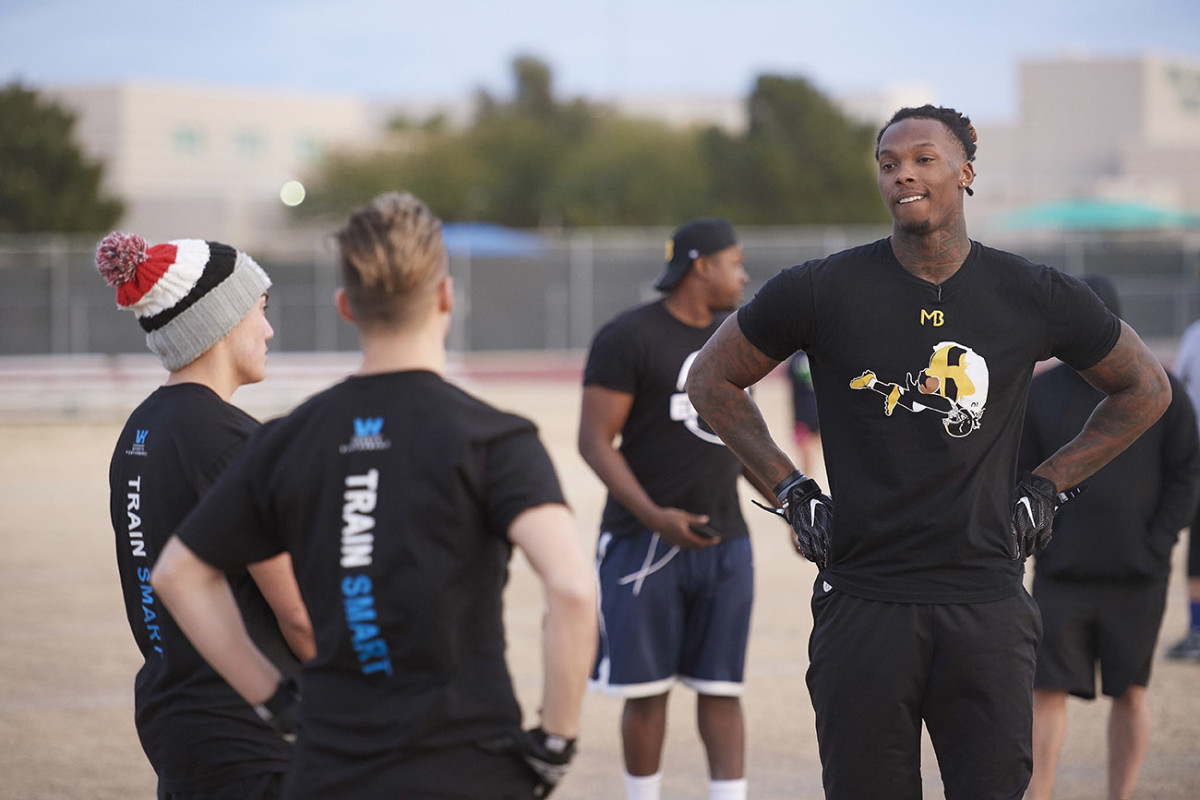 During his year away from the NFL, Bryant adopted a high school team.