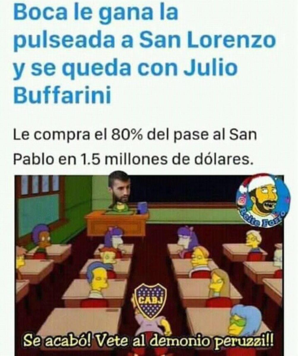 Los memes que dejó el pase de Buffarini a Boca