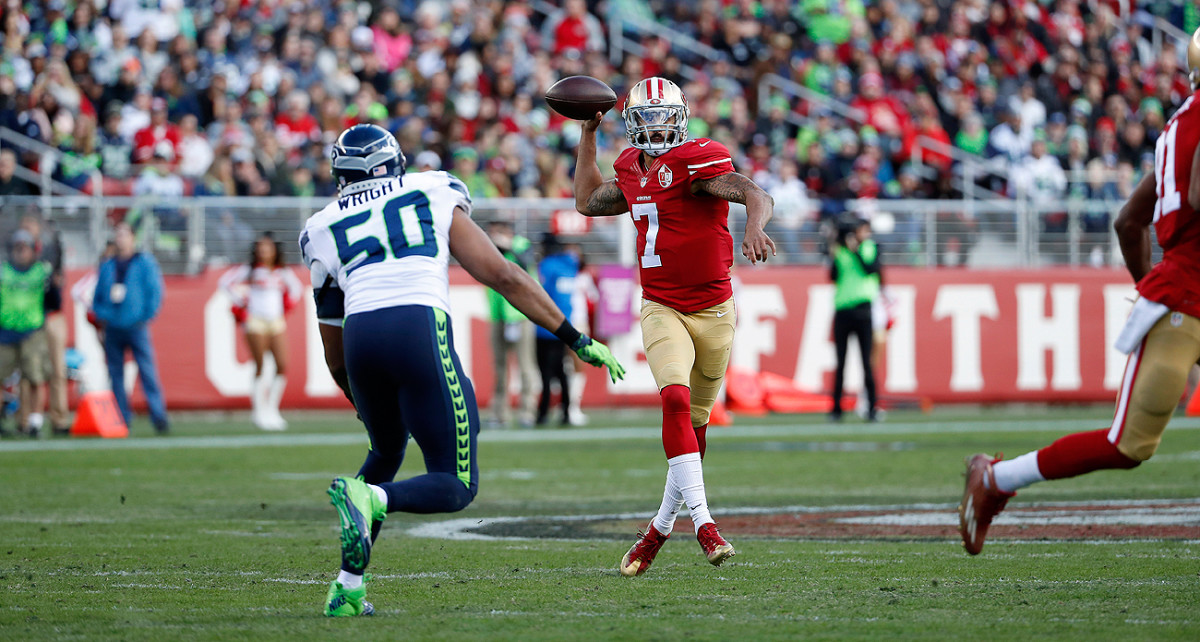 Unemployed QB Colin Kaepernick led the league in a surprising category last season.
