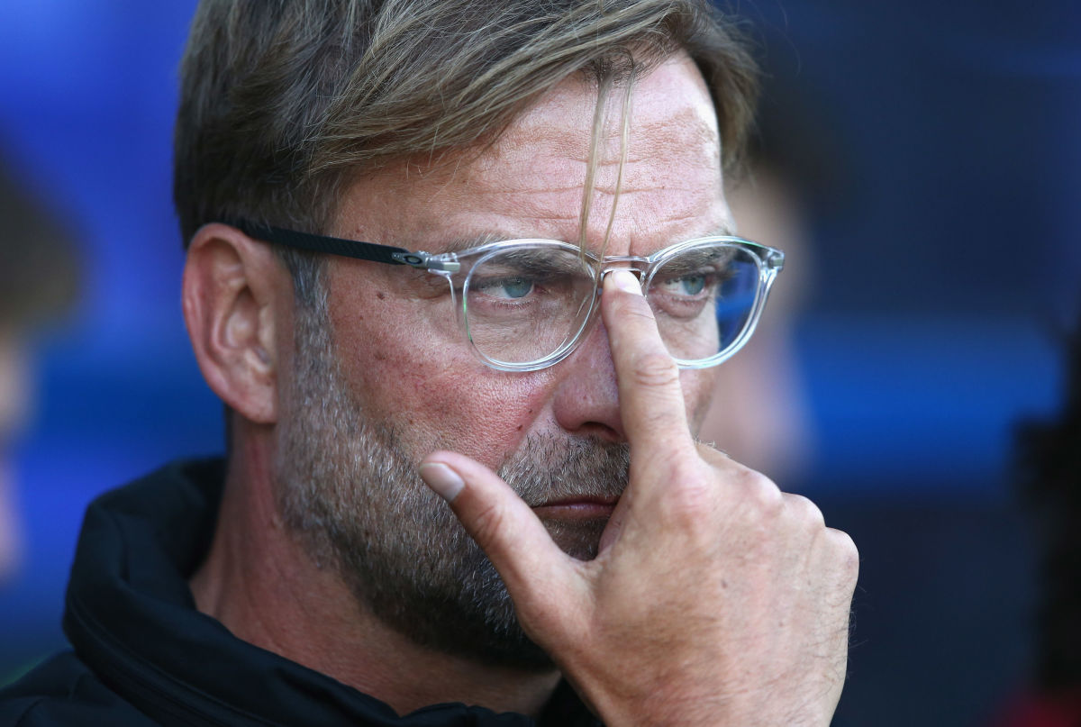 BIRKENHEAD, ENGLAND - JULY 12:  Jurgen Klopp the manager of Liverpool looks on during a pre-season friendly match between Tranmere Rovers and Liverpool at Prenton Park on July 12, 2017 in Birkenhead, England.  (Photo by Alex Livesey/Getty Images)