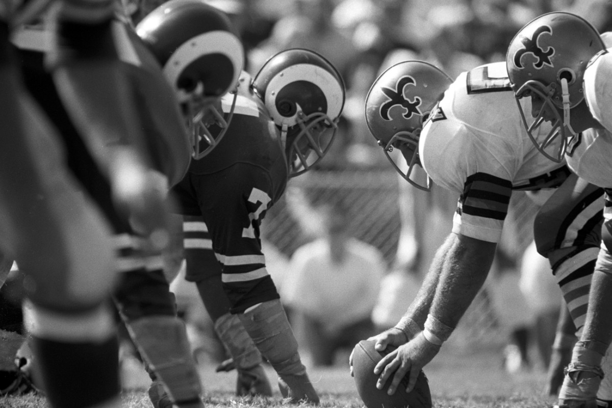 Sept. 17, 1967: The Saints face off against the Rams at Tulane Stadium in their first game.