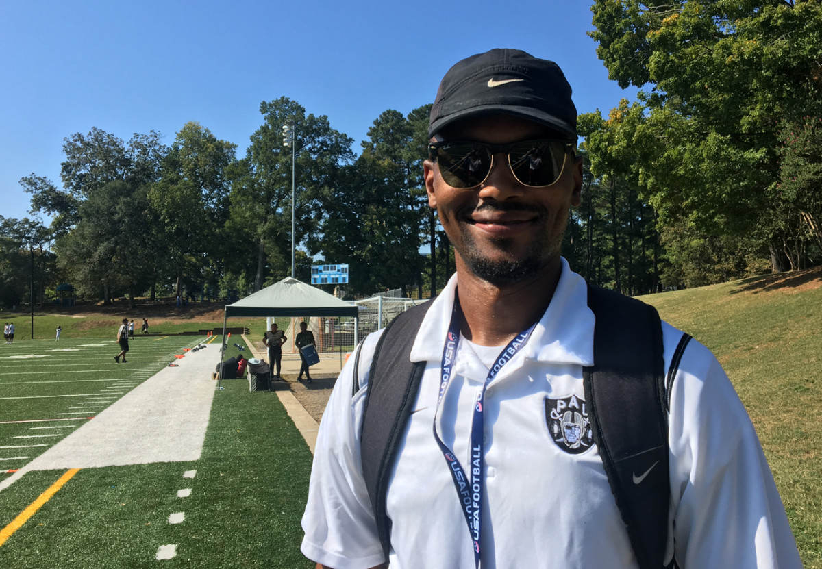 Erik Hamilton played in the Charlotte Police Activities League as a kid; now he's a coach.