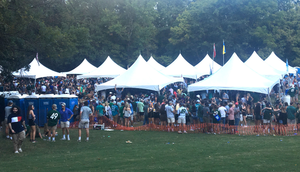 The team may be only five years old, but UNCC already has the tailgate scene well in hand.