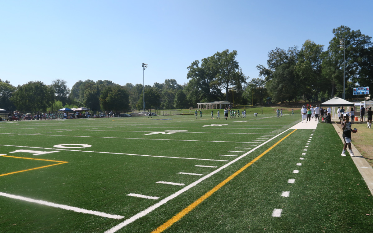 The state-of-the-art field at Revolution Park was funded by the Panthers, who play about two miles away.