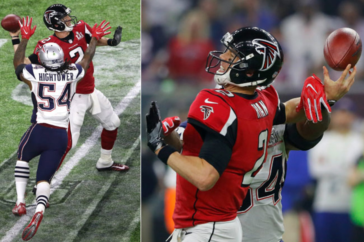Dont'a Hightower's strip-sack of Matt Ryan in the fourth quarter of Super Bowl 51.