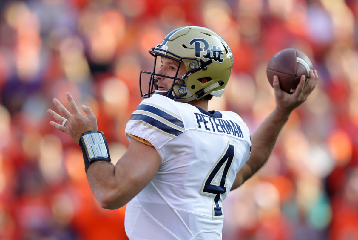 Looking for a quarterback sleeper in the draft? Pitt's Nate Peterman might fit the bill.