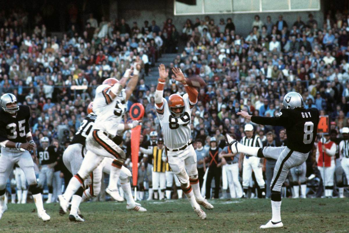 Fouts's selection of punter Ray Guy at four was a stunner.