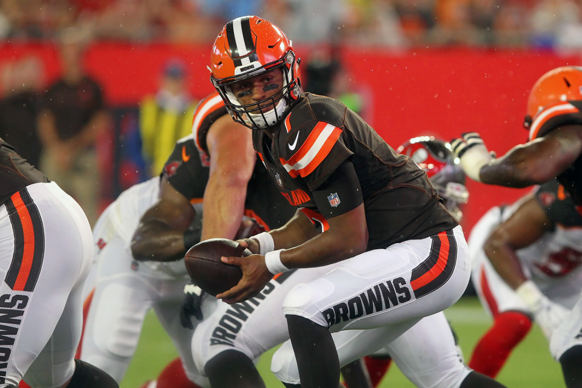 The Browns are handing the ball to rookie quarterback DeShone Kizer to start in Week 1.