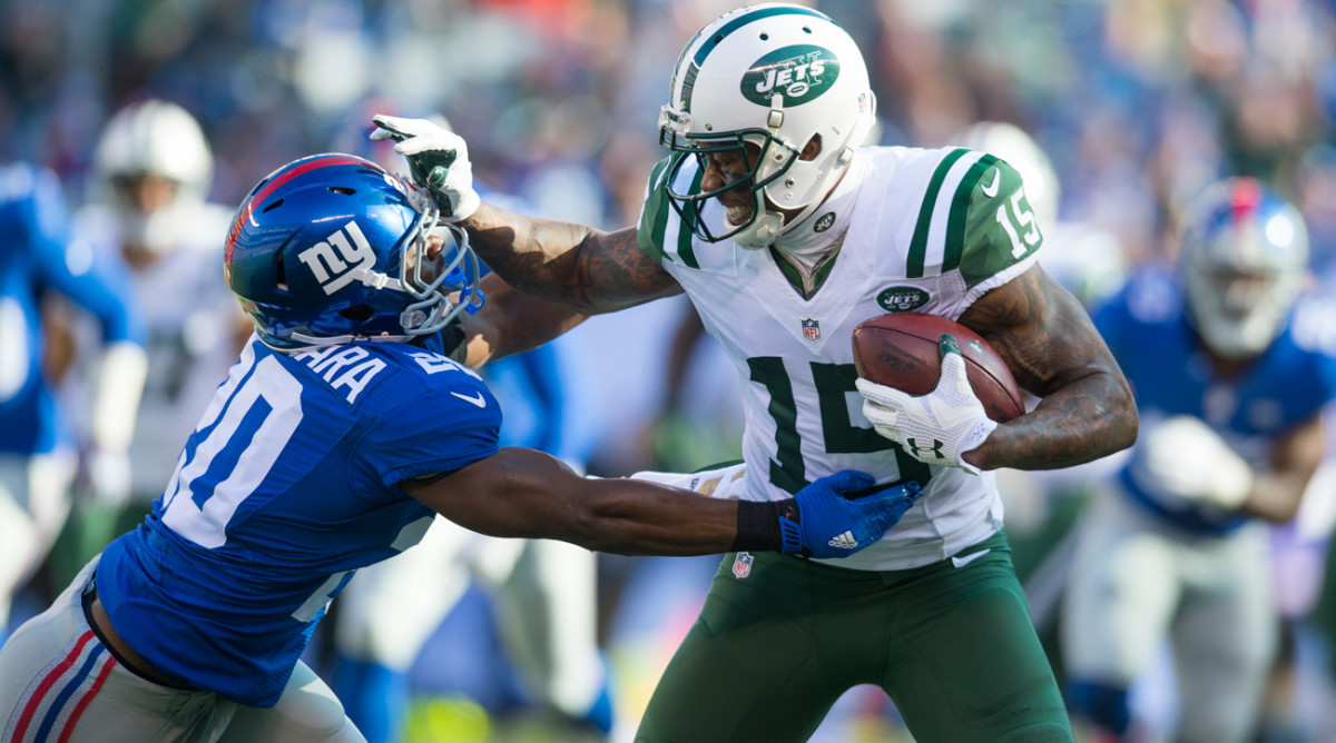 Brandon Marshall's new deal with the Giants is for $5.5 million in 2017 and has no guarantee for 2018.