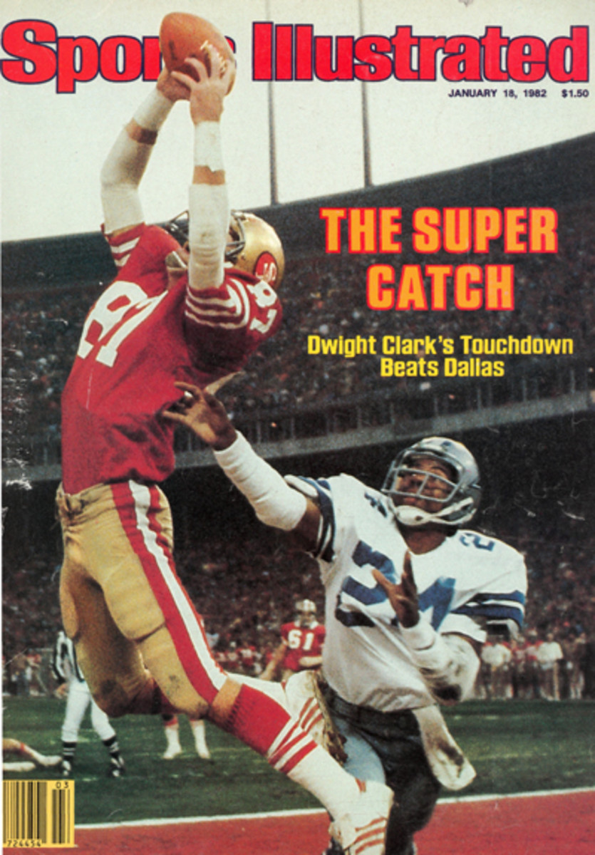 The Jan. 18, 1982, cover of Sports Illustrated featured Clark making 'The Catch.'