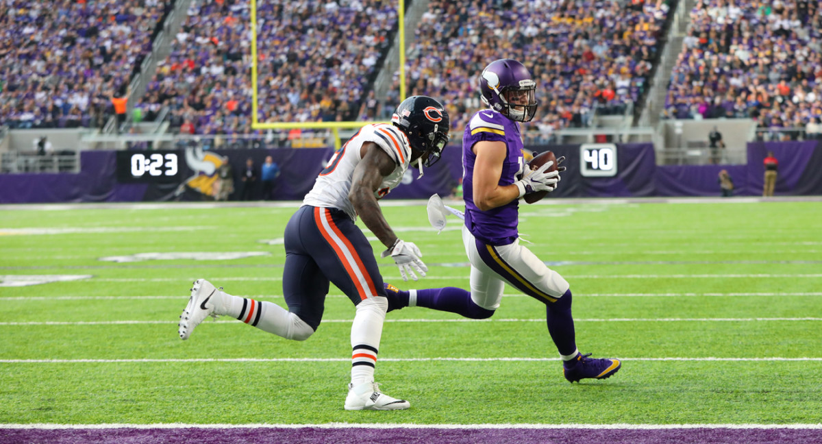 In an uneven season for the Vikings, wideout Adam Thielen emerged as a breakout player.