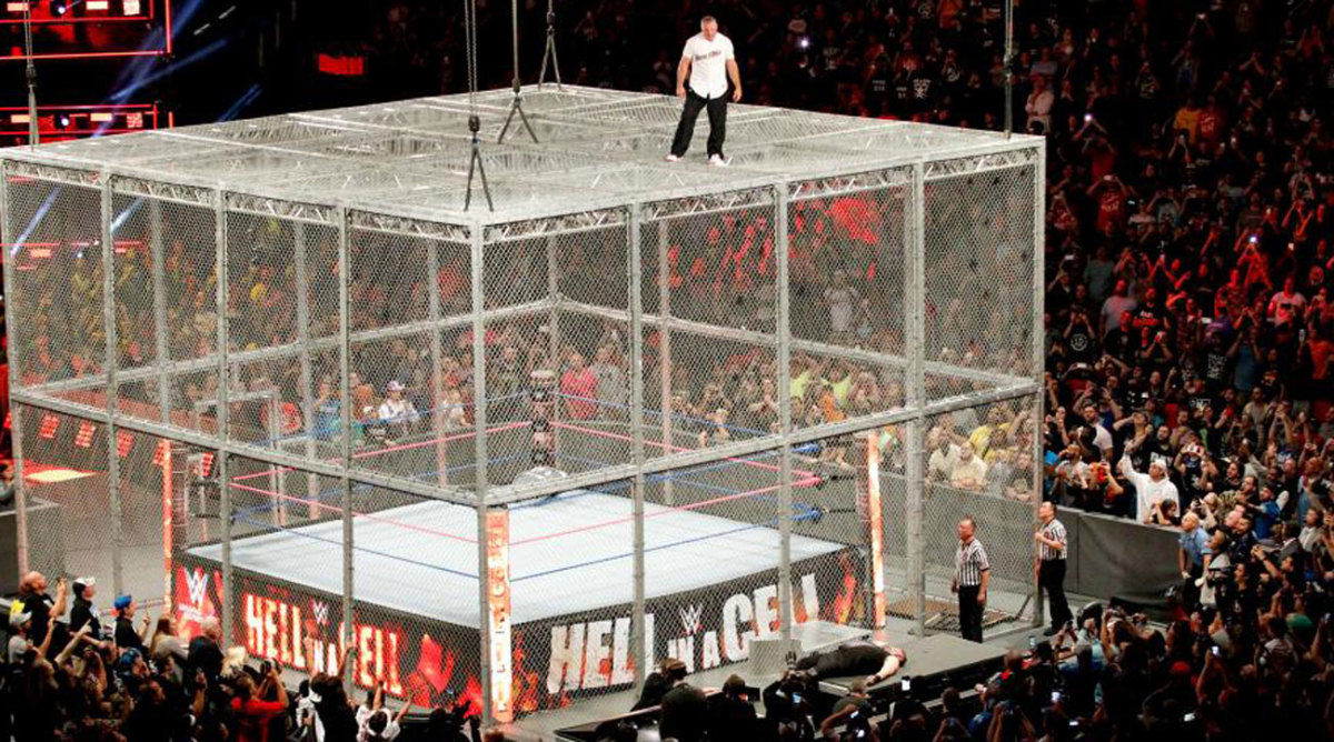 shane mcmahon cell hell cage jumps wwe