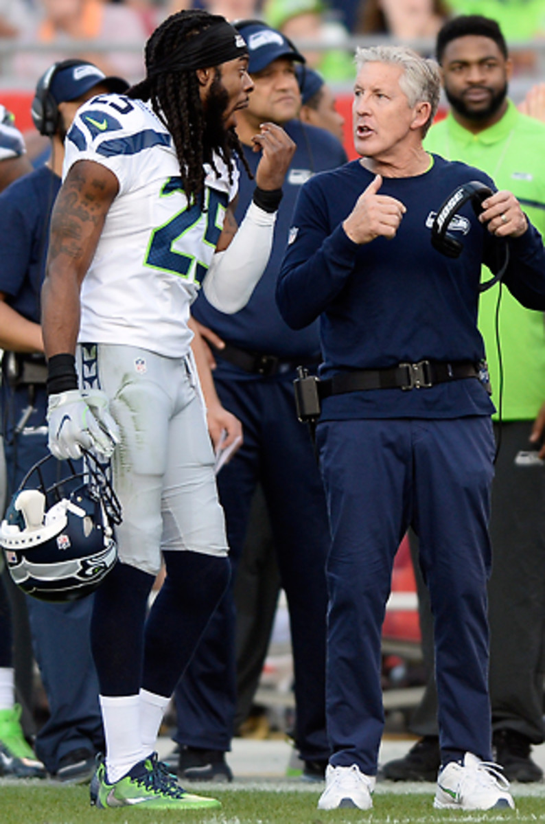 Sherman says he and Carroll continue to have a constructive relationship.