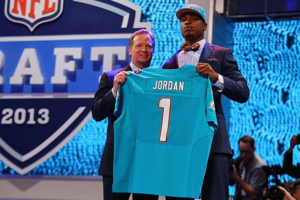 The Dolphins traded up to draft Jordan, out of Oregon, third overall in 2013.