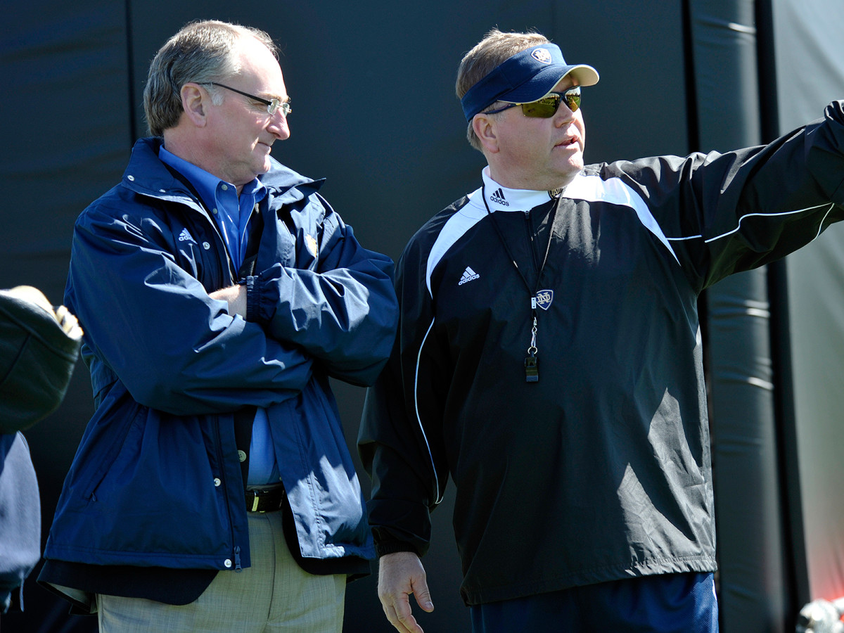"Jack Swarbrick (left) ""is ridiculously smart and could be running college sports."""