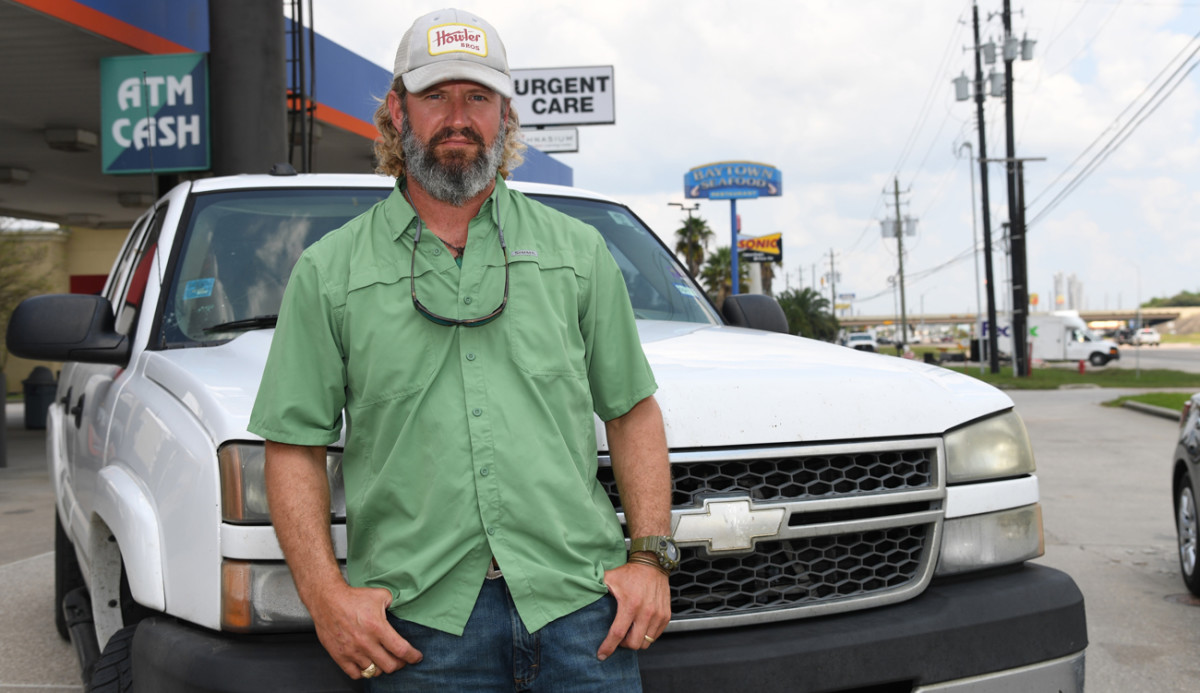 Derek Lechler, brother of Texans punter Shane Lechler, used his truck and skiff to rescue people and pets.