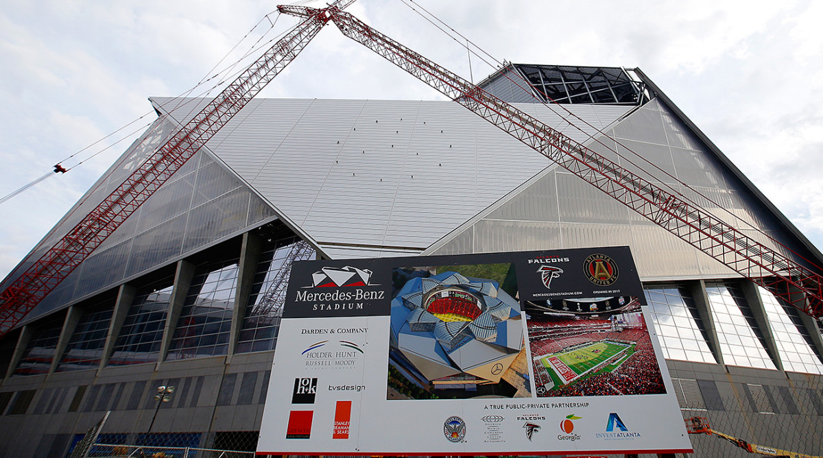 A look at Mercedes Benz Stadium, which will replace the Georgia Dome as the new home of the Atlanta Falcons.