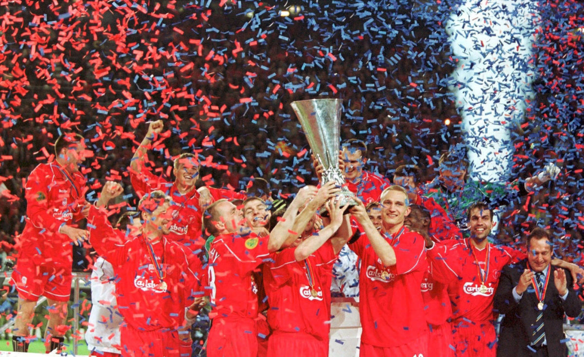 FUSSBALL/UEFA CUP FINALE 2001: LIVERPOOL - ALAVES 5:4 n.V.