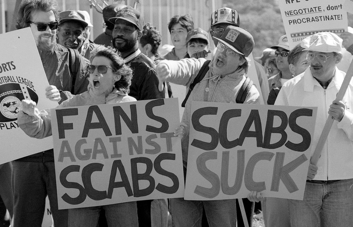 The NFL was as divided as it's ever been during the '87 strike.